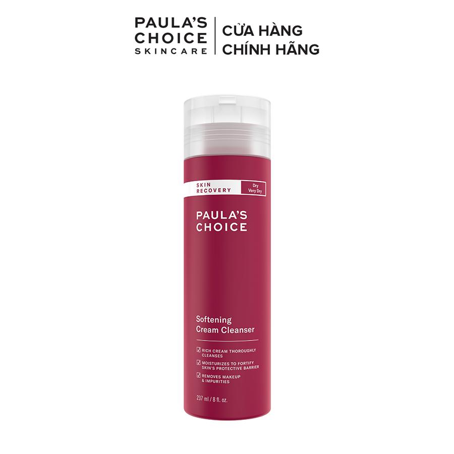 Sữa rửa mặt dành cho da khô phục hồi da và làm dịu Paula's Choice Skin Recovery Softening Cream Cleanser 237ml
