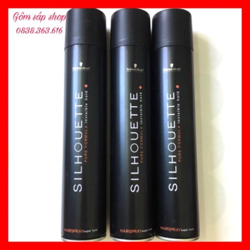 GÔM XỊT TÓC giữ nếp cứng (10-14h) SILHOUETTE 420ML dành cho cả nam và nữ/ Keo xịt tóc/ Gel xịt tóc giá rẻ