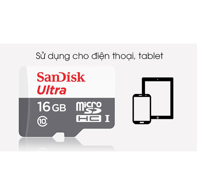 Thẻ nhớ micro SD sandisk Ultra 16GB 80Mb/s - New version (1)