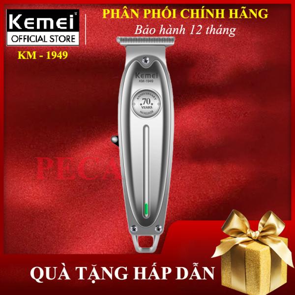 Tông đơ chấn viền kemei KM - 1949 không dây chuyên nghiệp,có thể khắc tatoo, cạo trắng... - hàng phân phối chính thức, bảo hành 12 tháng tong do cat toc