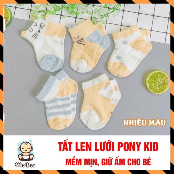 Giá bán Set 5 đôi TẤT len lưới KIDS hình thú thu đông mềm mịn, giữ ấm cho bé 0-2 tuổi