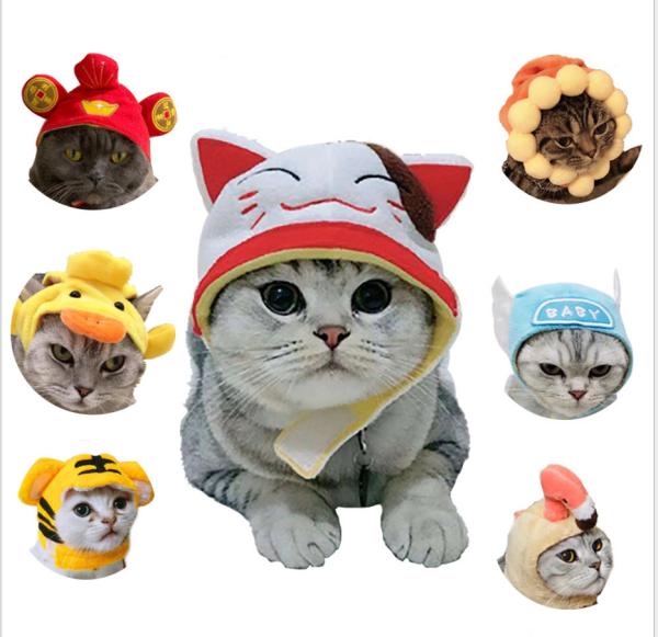 Mũ vải cho chó mèo,Mũ lưởi trai cho Chó Mèo (Có Video cụ thể)