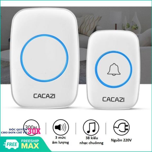 [ HÀNG HOT 2020 ] Chuông cửa không dây, chuông cửa không dây Cacazi (trắng), dụng cụ bảo vệ nhà cửa
