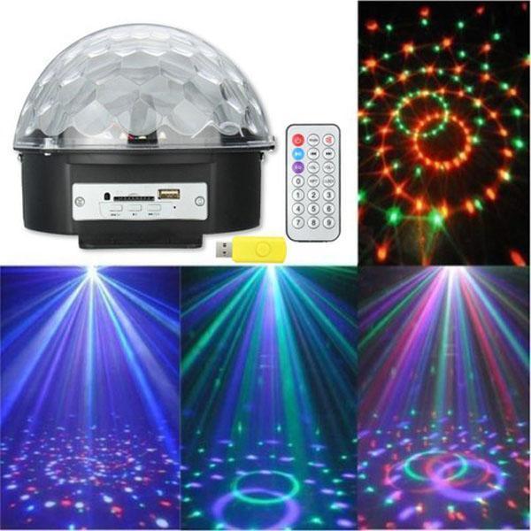 Bảng giá Đèn LED 7 màu vũ trường cảm ứng nhạc 18w, Đèn LED xoay 7 màu sân khấu chớp theo nhạc, Đèn nháy theo nhạc, đèn chớp 7 màu, đèn trang trí, Đèn Led karaoke, Đèn Led vũ trường, Đèn cảm ứng âm thanh