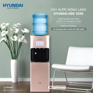 Cây nước nóng lạnh Hyundai HDE 5205- Dung Tích Làm Lạnh 5L - Bảo hành chính hãng 12 tháng thumbnail