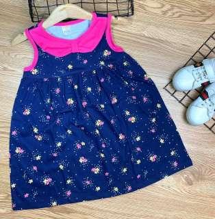 Đầm thun cotton set 2 đâm borip mẫu mới về (25 đến 40kg) - Đầm váy bé gái - Đầm suông bé gái