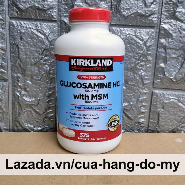 Viên Uống Glucosamine 1500mg MSM 1500mg Bổ Xương Khớp Glucosamin Kirkland Mỹ 375 Viên Hỗ trợ giảm đau , chống thoái hóa xương khớp - Viên Vàng giá rẻ