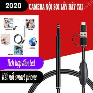 Camera noi soi, Camera nội soi y tế soi tai, mũi, họng kiêm máy lấy ráy tai HD Visual Earwas Clean Tool cho hình ảnh sắc nét Bảo hành uy tín thumbnail