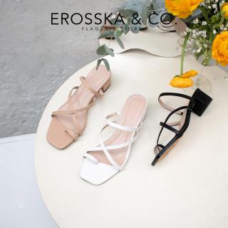 Dép cao gót thời trang Erosska phối dây quai mảnh kiểu dáng thanh lịch cao 3cm EM066 thumbnail