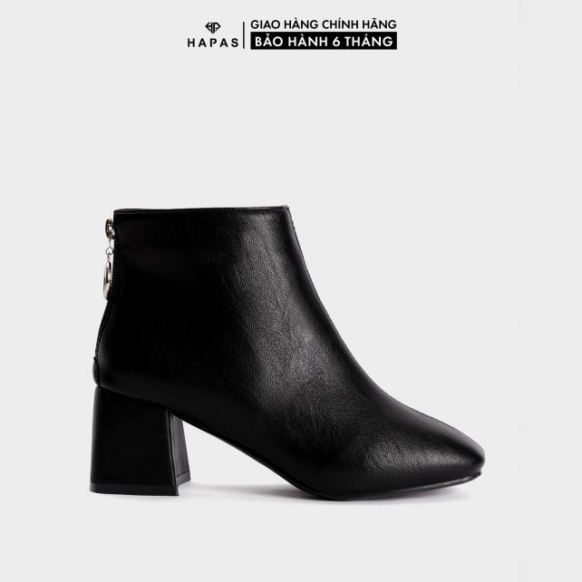 Giày Bốt Nữ Boot Da Mịn Gót Vuông 5Phân HAPAS - BOT528 giá rẻ
