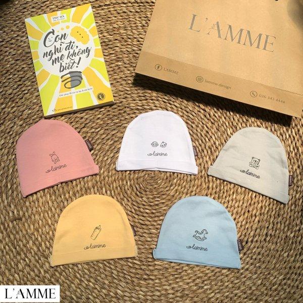 Giá bán Mũ vải sơ sinh cho bé trai/bé gái siêu thoáng mát thiết kế bởi Lamme giữ ấm vùng đầu tai bé khi bé vẫn chưa hoàn toàn thích nghi với môi trường