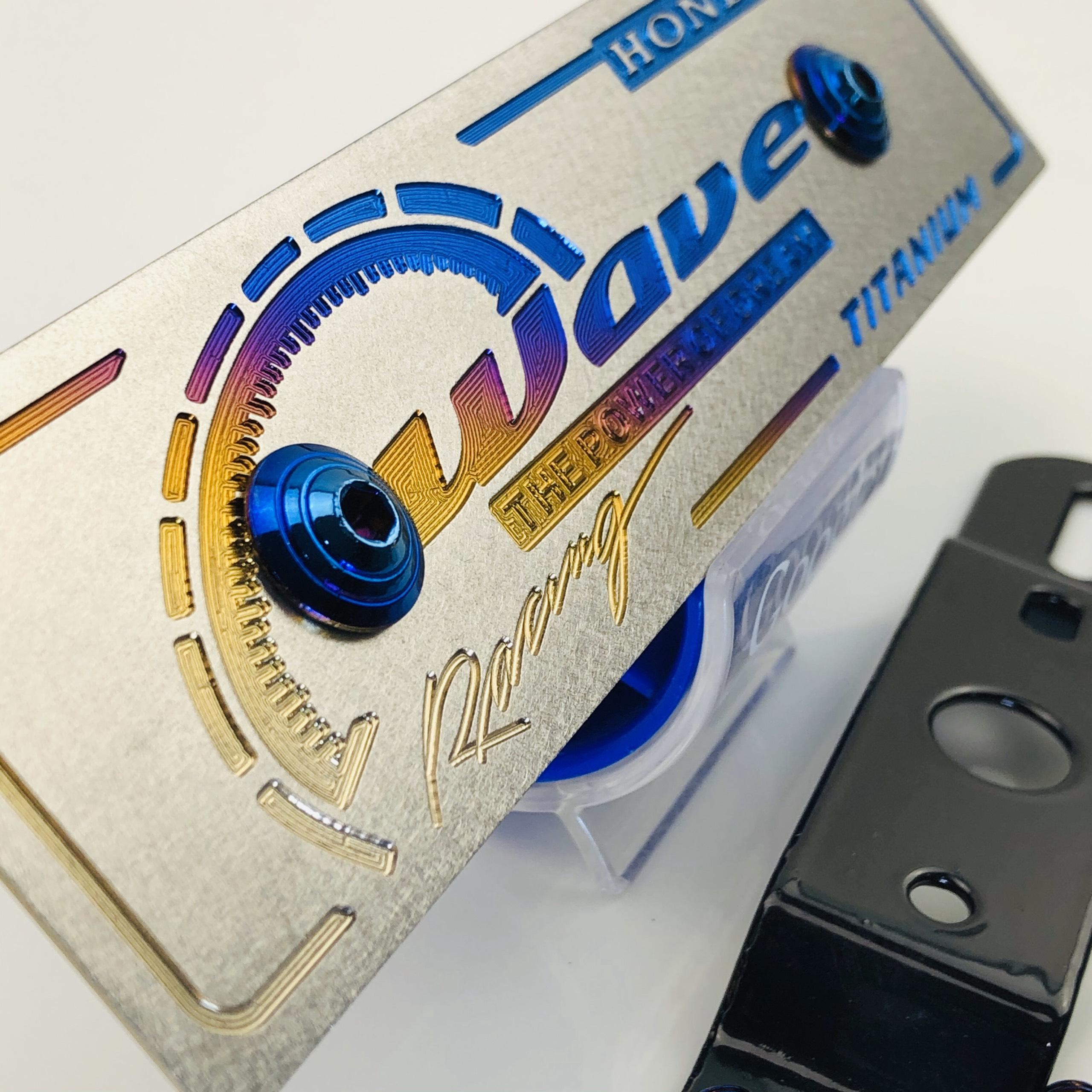 Wave - Bảng tên titan 100% gắn cho các dòng xe wave dòng cao cấp tặng kèm pát gắn bảng tên và ốc titan gắn bảng tên mẫu mới nhất