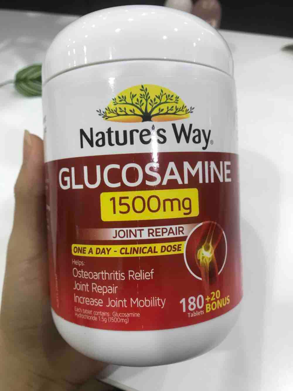 Viên uống bổ khớp của Úc Nature's Way Glucosamine Joint Repair 1500mg 200 viên
