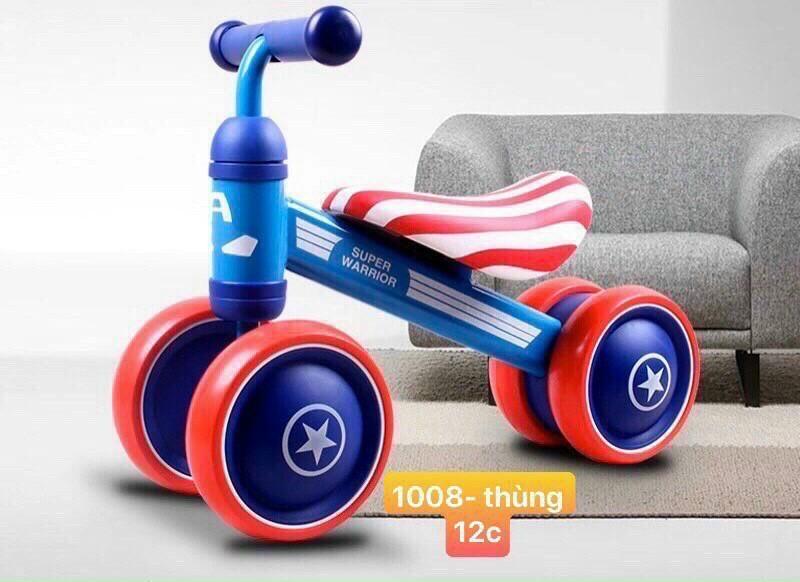 Mua Xe chòi chân USA [FREESHIP] Xe chòi chân cho bé 4 bánh khung kim loại giúp bé tăng cường vận động rèn luyện sự dẻo dai