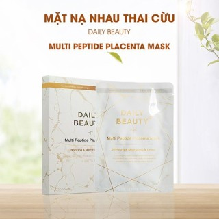 Mặt nạ nhau thai cừu Daily Beauty Multi Peptide Placenta Mask hộp 6 miếng Hàn Quốc thumbnail