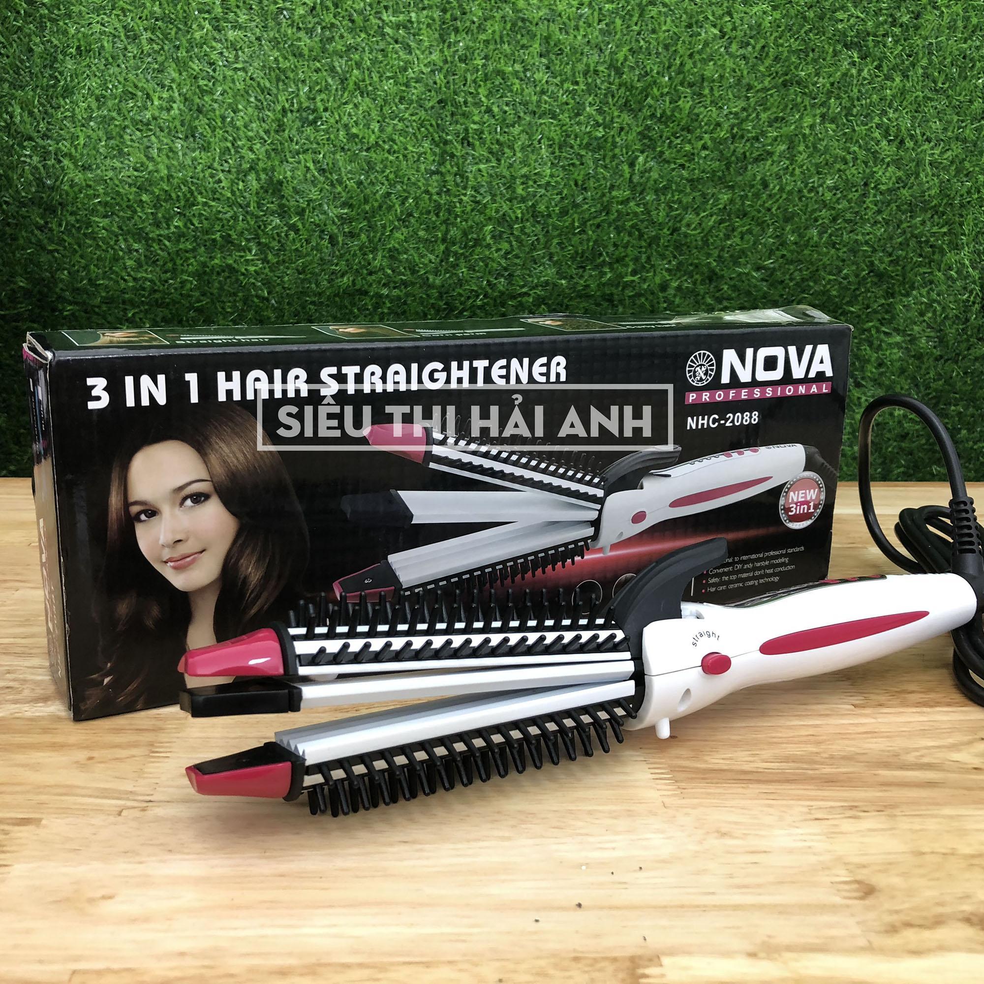 Máy làm tóc mini Nova NHC-2088T uốn,duỗi,dập xù tóc đa năng 3 in 1 GDQUY78 giá rẻ