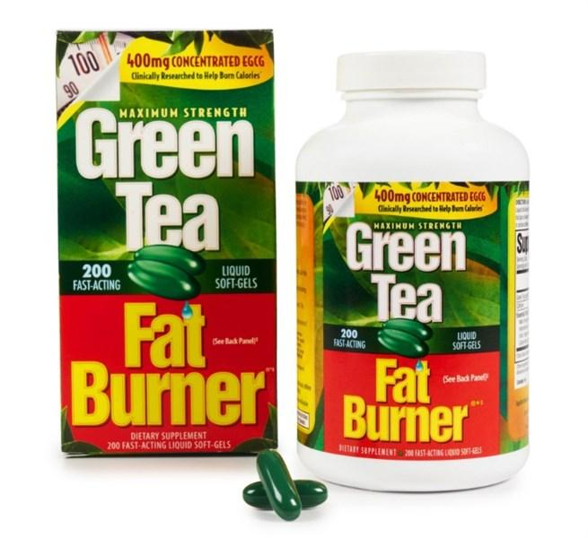 Viên giảm cân Green Tea Fat Burner Liquid Softgels 200 viên ( Hộp )