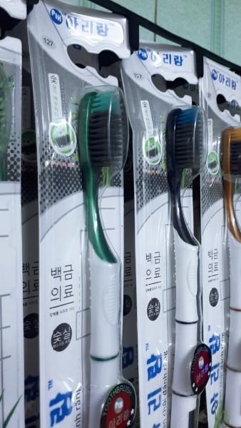 Bộ 10 bàn chải đánh răng Than hoạt tính công nghệ Hàn Quốc - mẫu mới