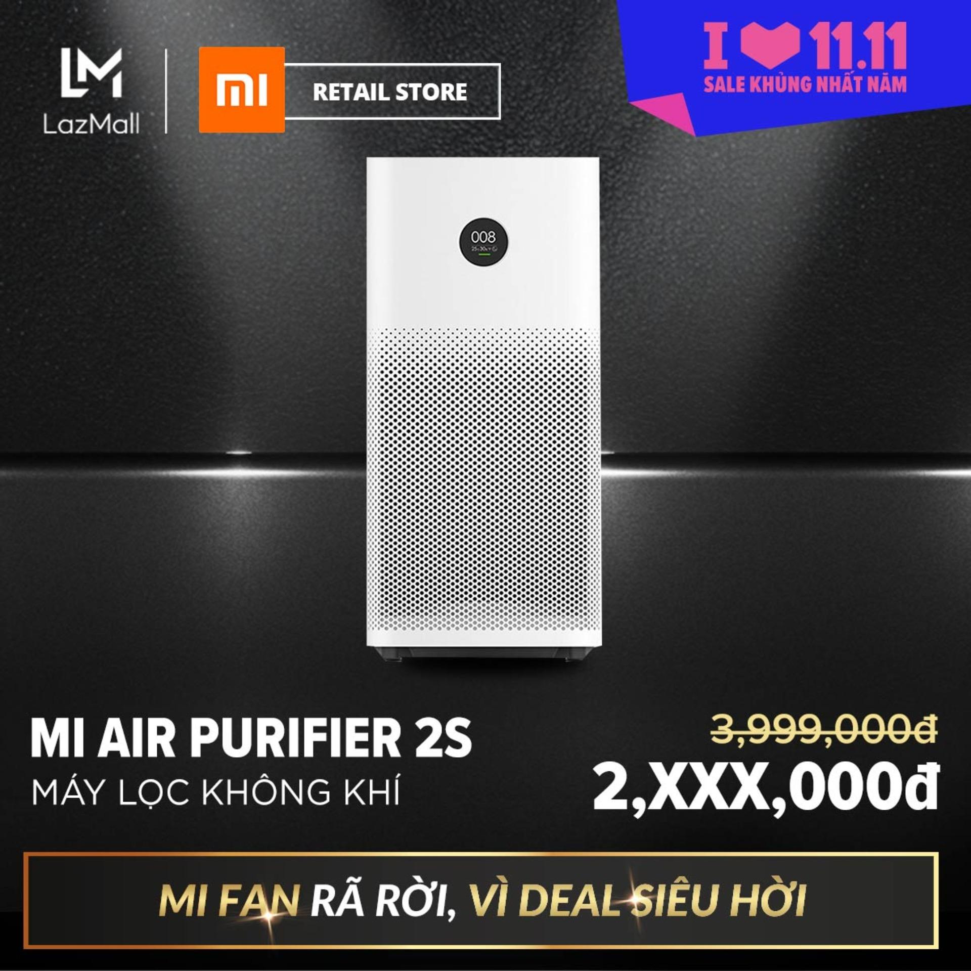 Máy Lọc Không Khí Xiaomi Mi Air Purifier 2S FJY4015CN (Trắng) - Hàng phân phối chính hãng, phù hợp với diện tích 21 - 37m2