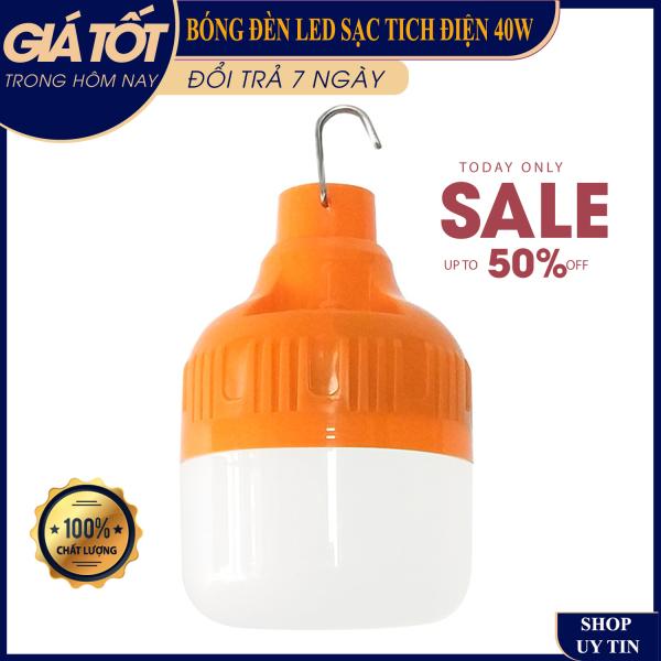 [ LOẠI XỊN GIÁ RẺ ] Bóng đèn tích điện 6-8h với 3 chế độ, Bóng đèn tích điện 6-8h với 3 chế độ,30W + 60w, bóng đèn tiết kiệm điện ( Quý khách vui lòng chọn công suất phù hợp )