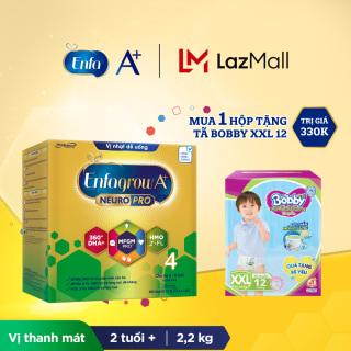 Bộ 1 hộp Sữa bột Enfagrow A+ Neuropro 4 với 2 -FL HMO cho trẻ từ 2 6 tuổi 2.2kg - Tặng 1 gói tã Bobby XXL12 thumbnail