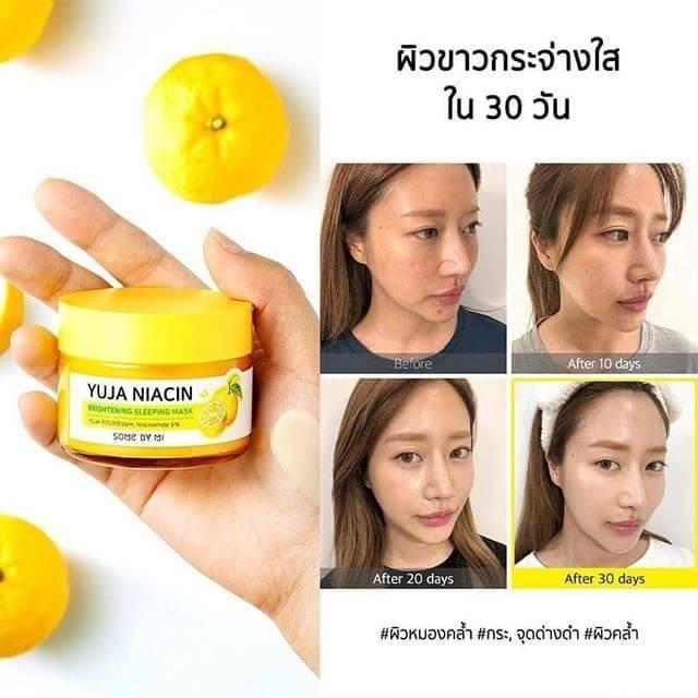 ⭐Mặt Nạ Ngủ Dưỡng Trắng Some By Mi Yuja Niacin 30 Days Miracle Brightening  Sleeping Mask: Mua bán trực tuyến Mặt nạ đắp với giá rẻ | Lazada.vn