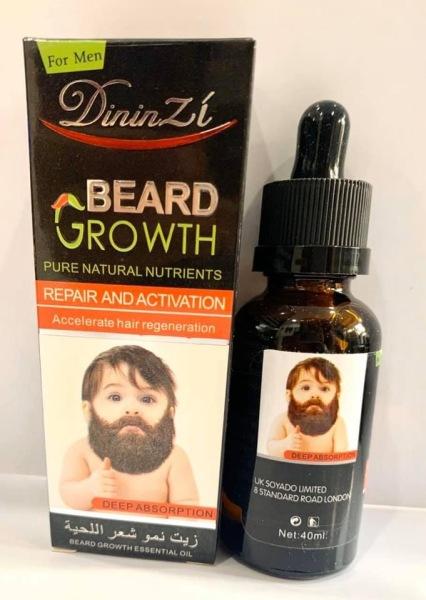 Tinh chất mọc râu BEARD GROWTH DininZi 40ml giúp mọc lông vùng ngực 40ml - tinh dầu mọc lông - HX2037 giá rẻ