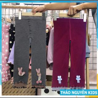 [Thu thập mã giảm thêm 30%] Quần Legging Len Tăm Sành Điệu cho bé gái 8-20kg Thaonguyenkids thumbnail