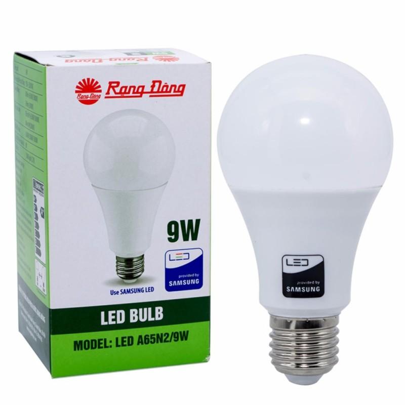 Bóng đèn led tròn 7W-9W Rạng Đông, ánh sáng trắng, Không chứa thủy ngân và chất độc hại an toàn cho người sử dụng