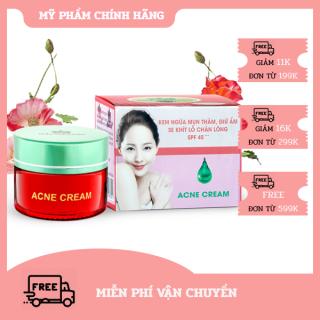 [HCM]Kem Ngừa mụn thâm - Giữ ẩm - Se khít lỗ chân lông SPF 45+++ Acne Cream Miền Thảo Mộc (15g) thumbnail