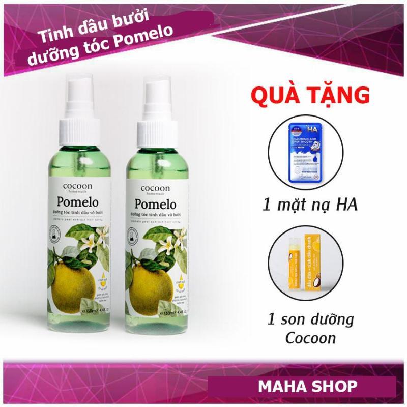 Combo 2 Pomelo Tinh dầu bưởi giảm rụng tọc, kích thích mọc tóc tặng mặt nạ, son dưỡng nhập khẩu