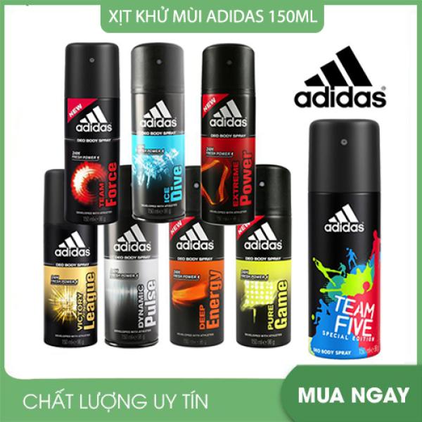 Xịt khử mùi toàn thân 48h dành cho nam Adidas ( 150ml / chai ) - Có nhiều hương cao cấp