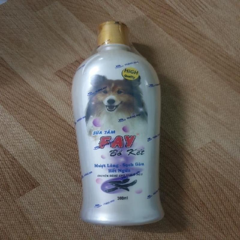 Sữa tắm Fay Bồ Kết 300ml mượt lông sạch gàu hết ngứa dùng cho chó mèo