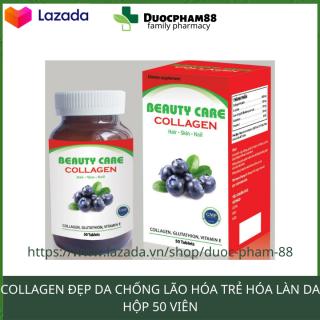 Viên uống tăng nội tiết sinh lý nữ Beauty Care Collagen giúp da tắng hồng giảm nám tàn nhang hộp 50 viên HSD 2023 thumbnail