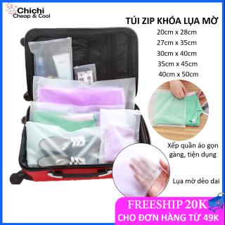Túi zip khóa lụa mờ ChiChi [GIÁ RẺ] chất dẻo dai nhiều size tiện lợi để đồ dùng cá nhân TCN04 thumbnail