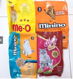 COMBO 4 loại thức ăn hạt cho mèo (Minino, Meo, Minino Yum, Hello Cat) thumbnail