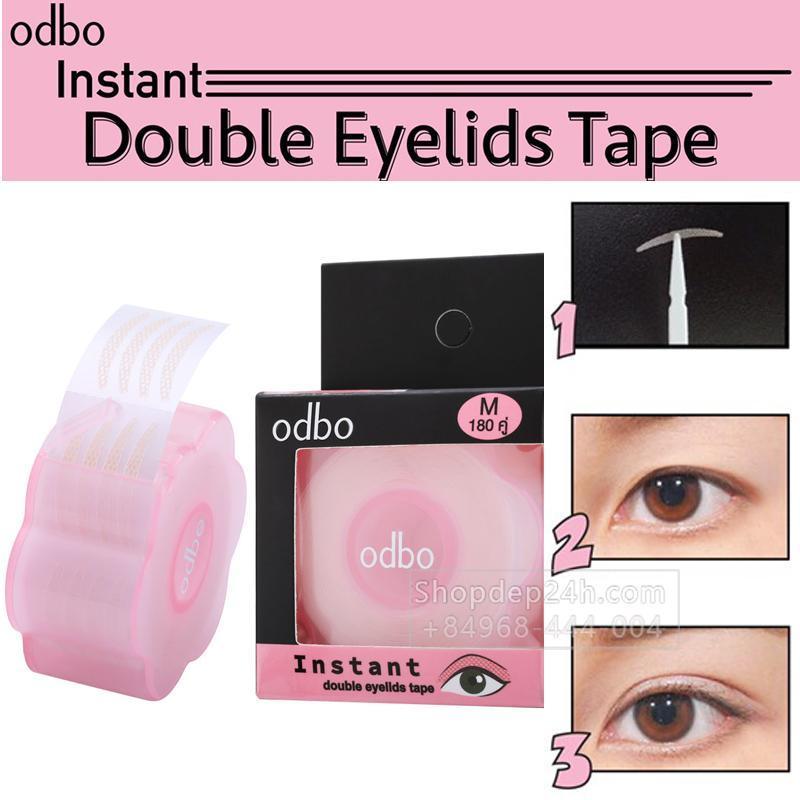 [Odbo] Kích mí lụa dạng lưới sẵn keo Instant Double Eyelids Tape Thái Lan (180 cặp/1 cuộn) cao cấp