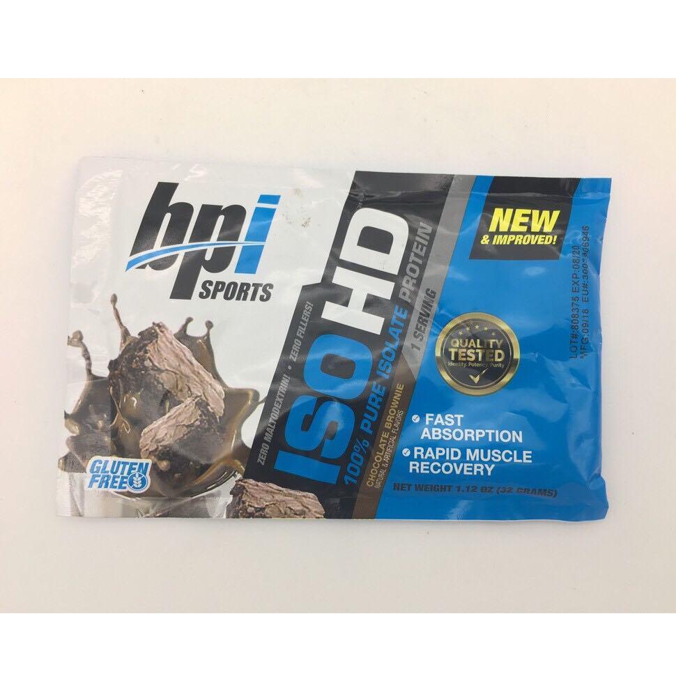 Gói Thử Sample Sữa Tăng Cơ Bắp BPI SPORTS ISO HD 100% Whey Isolate 1 Lần Dùng (32gram) cao cấp