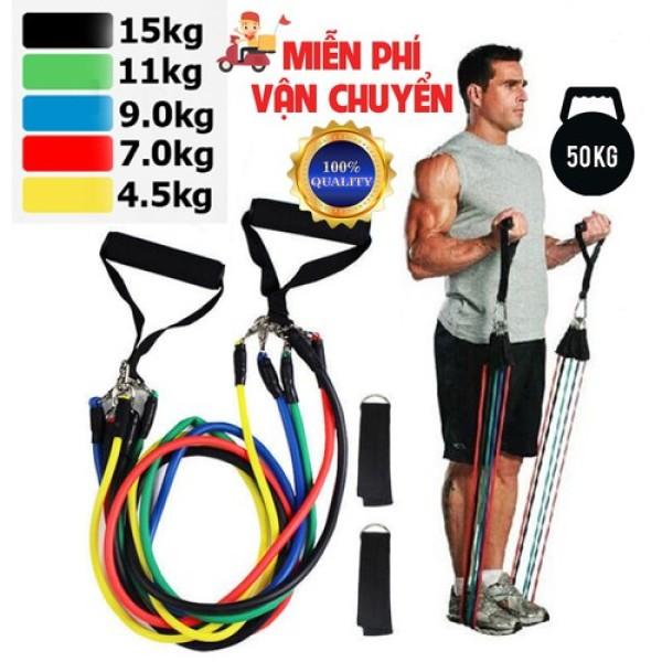 Bảng giá Bộ 5 dây đàn hồi tập gym thể hình đa năng