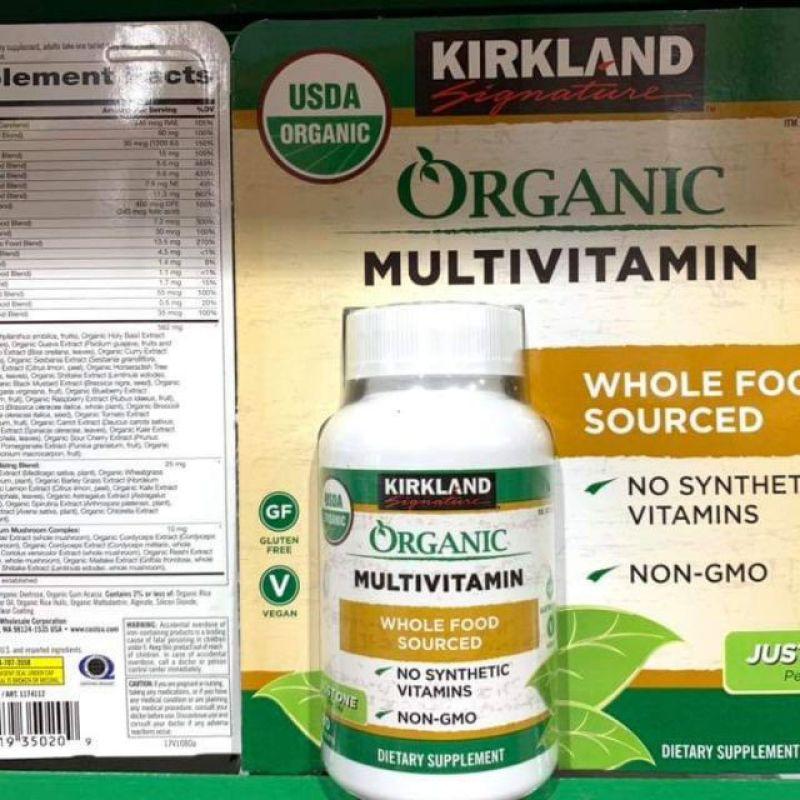 Vitamin tổng hợp hữu cơ Kirland Signatures cao cấp
