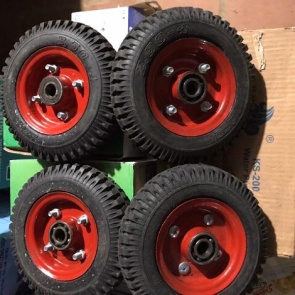 Combo 4 bánh xe đẩy 250-4 bánh đặc vành