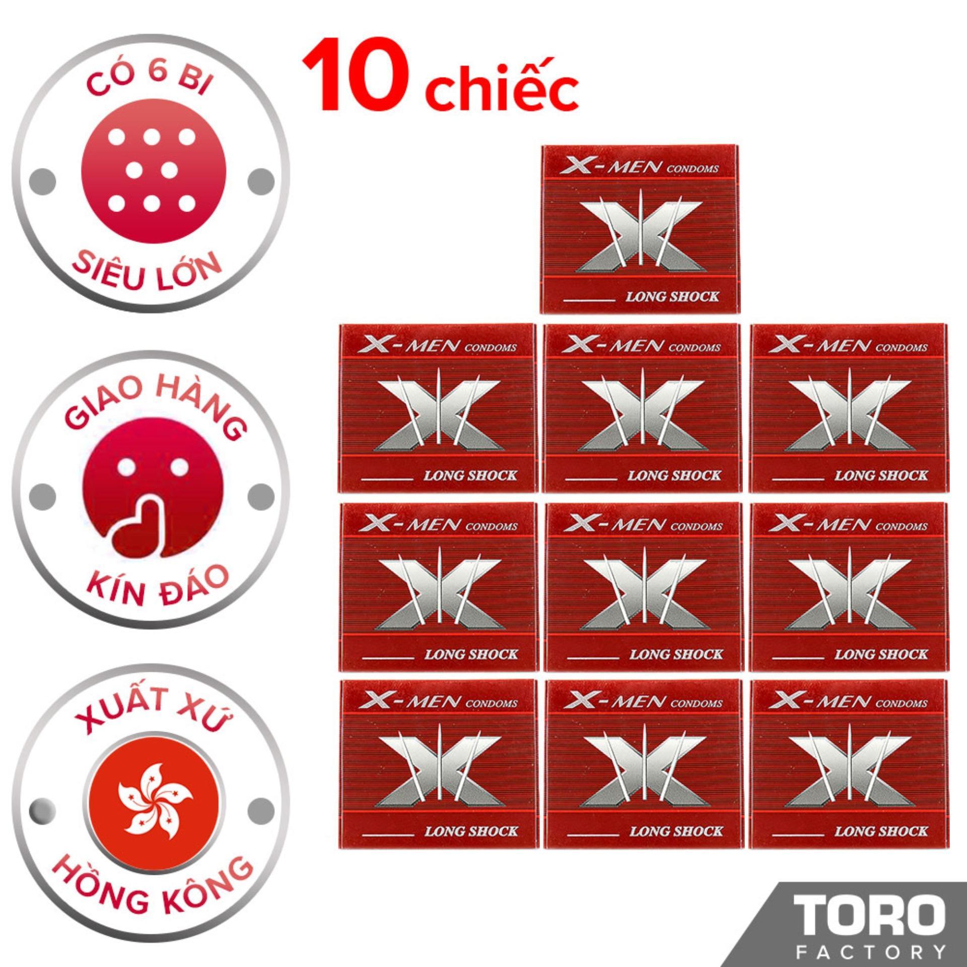 Bộ 10 (10 chiếc) Bao Cao Su Hồng Kông Bi X Bi - ToroShop