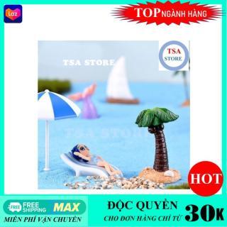 Phụ kiện tiểu cảnh Ô du lịch trang trí tiểu cảnh chậu cây mini terrarium hồ cá bonsai hòn non bộ sen đá xương rồng thumbnail