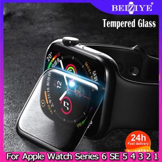 Kính cường lực 3D Full Cover cho Apple Watch SERIES 6 SE 5 4 40mm 44mm Phim bảo vệ màn hình cho đồng hồ quả táo Đồng hồ thông minh 38mm 42mm Series 3 2 1 thumbnail