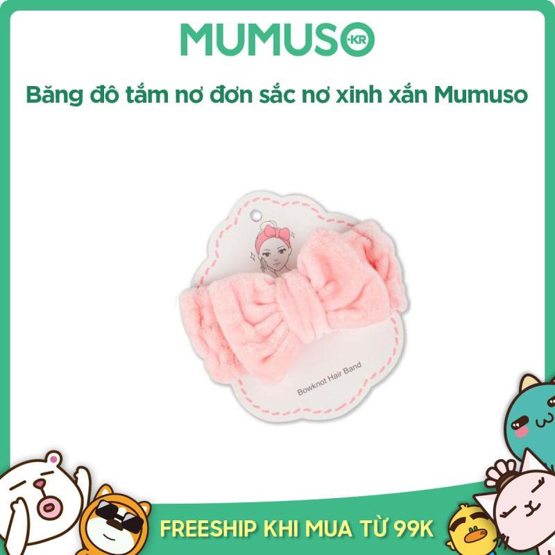 Băng đô tắm nơ đơn sắc nơ xinh xắn Mumuso tốt nhất