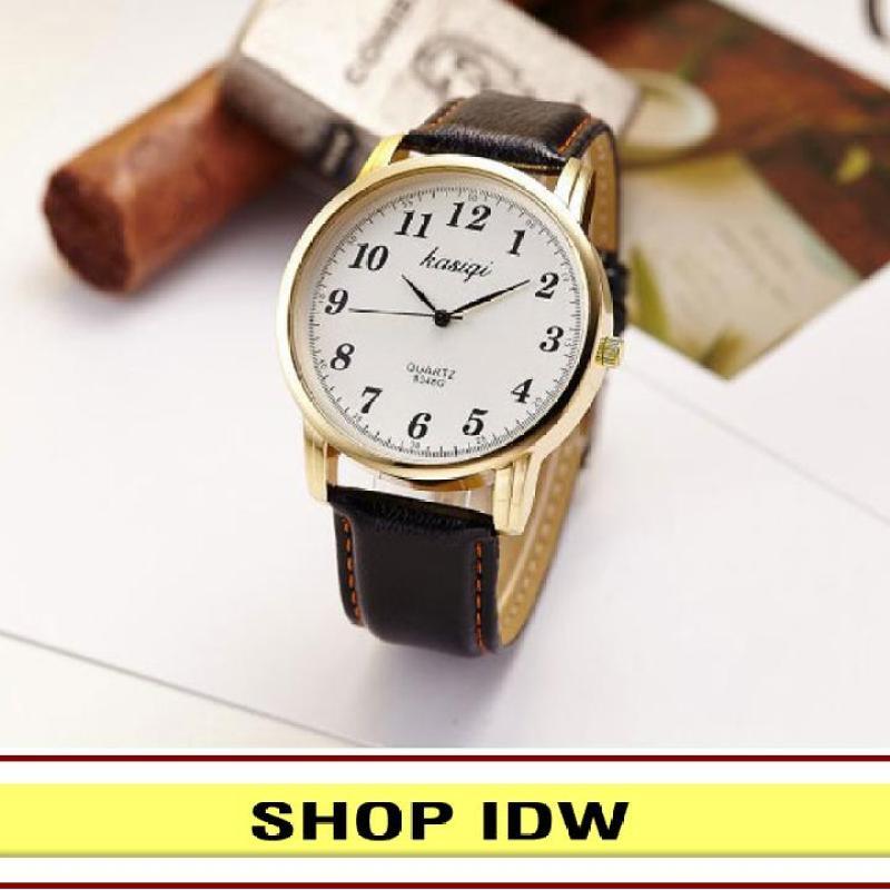 [Có video quay thật] Đồng hồ nam nữ dây da thời trang Kasiqi IDW 6841 (Nhiều màu lựa chọn)