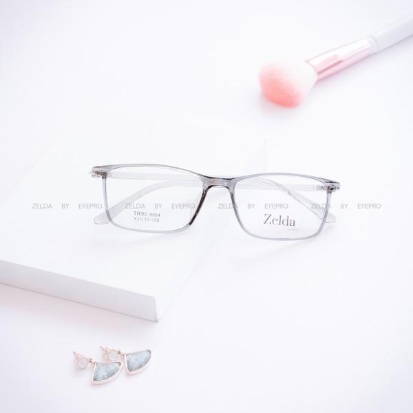 Giá bán [LẮP SẴN CẬN] Gọng kính cận nữ, gọng cận vuông nhựa dẻo Z8054