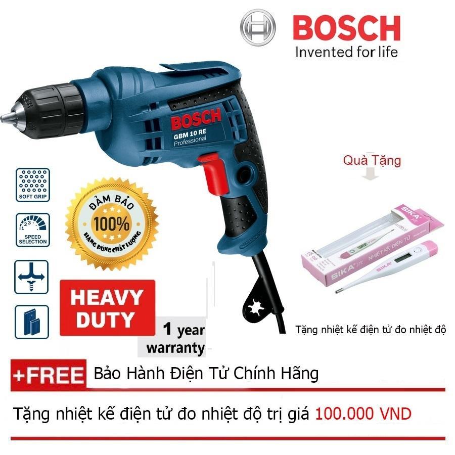 Máy khoan Bosch GBM 10RE (hộp giấy) + Quà tặng nhiệt kế điện tử
