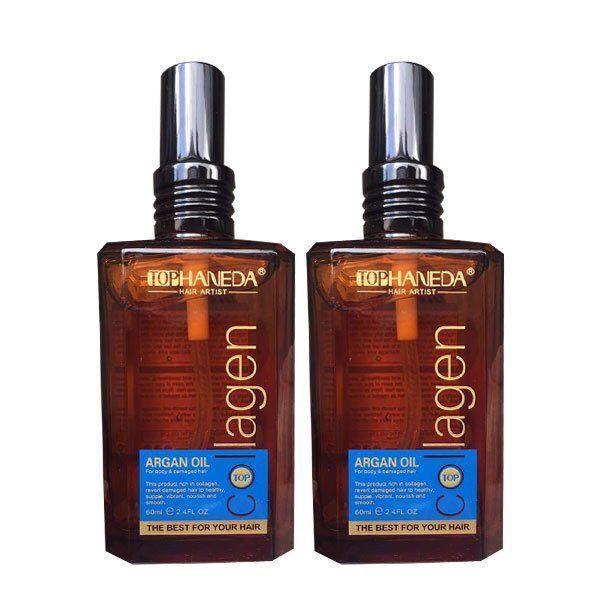 Tinh dầu dưỡng tóc Haneda Collagen Argan Oil phục hồi hư tổn