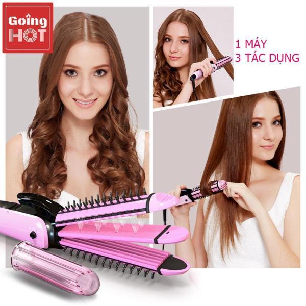【Tặng kẹp tóc】Máy duỗi tóc Máy bấm tóc Máy uốn tóc PRITECH 3 trong 1 máy uốn xù khô ướt 3 chức năng cao cấp: duỗi uốn bấm tạo kiểu tóc 3 chức năng trong 1 nhập khẩu